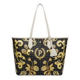 BORSA DONNA POLLINI SHOPPING HERITAGE QUEEN FOR A DAY NERO-AVORIO TE8427 121