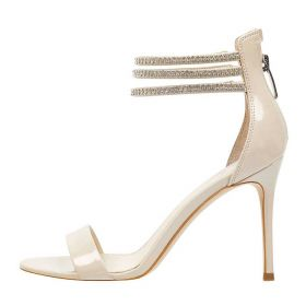 SCARPA DONNA GUESS SANDALO LEATHER KATHY STRASS BEIGE 118