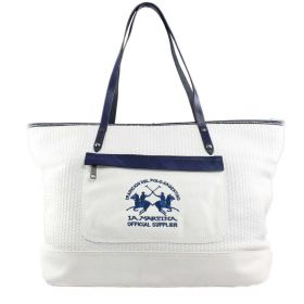 BORSA DONNA LA MARTINA SAFARI SHOPPING 21W133A27 BIANCO
