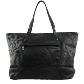 BORSA DONNA LA MARTINA SAFARI SHOPPING 21W133A27 NERO