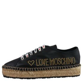 SCARPA DONNA LOVE MOSCHINO ESPADRILLAS NAPPA BLACK JA10173 119