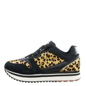 SNEAKERS DONNA LOTTO TOKYO WEDGE ALL BLACK SLICE ANIMALIER 212426-1CL 219