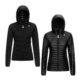 GIACCA DONNA K-WAY LILY THERMO DOUBLE K11198 BLACK PURE 220