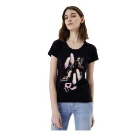 T SHIRT DONNA LIU JO STAMPA SHOES NERO WA1332 121