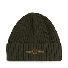 CAPPELLO UOMO FRED PERRY BRANDED BEANIE GREEN C2137 221