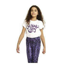 T-SHIRT KID ANIYE BY GIRL MAGLIETTA BASIC PURPLE 111202 221