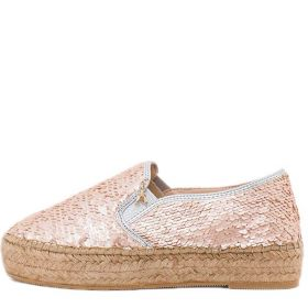 SCARPA DONNA PATRIZIA PEPE ESPADRILLAS ALL OVER PAILLETTES ROSE SILVER 117