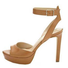 SCARPA DONNA GUESS SANDALO LEATHER CATORY TAN 118