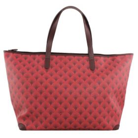 BORSA DONNA 289 BY SARAGIUNTI SHOPPING BAG ADELAIDE L WITH ZIP RED A/I 16