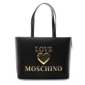 BORSA DONNA LOVE MOSCHINO SHOPPING BAG LOGO NERO JC4051 221