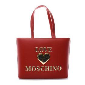 BORSA DONNA LOVE MOSCHINO SHOPPING BAG LOGO ROSSO JC4051 221