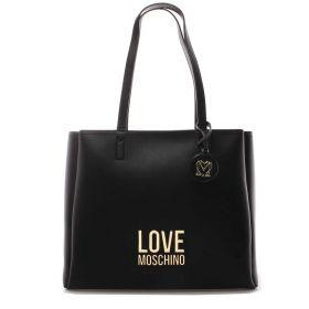 BORSA DONNA LOVE MOSCHINO SHOPPING BAG NERO JC4100 221
