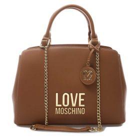 BORSA DONNA LOVE MOSCHINO HAND BAG CON DOPPI MANICI CAMMELLO JC4192 221