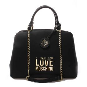 BORSA DONNA LOVE MOSCHINO HAND BAG CON DOPPI MANICI NERO JC4192 221