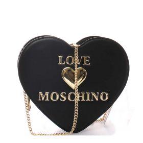 BORSA DONNA LOVE MOSCHINO CROSSBODY BAG HEART NERO JC4167 221