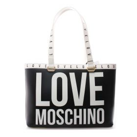 BORSA DONNA LOVE MOSCHINO SHOPPING BAG NERO MULTI JC4180 221