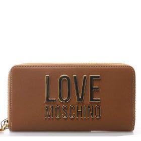 PORTAFOGLIO DONNA LOVE MOSCHINO WALLET AROUND ZIP CAMMELLO JC5611 221