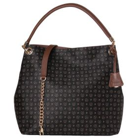 BORSA DONNA POLLINI HOBO BAG NERO + VIT. MARRONE TE8409 CO
