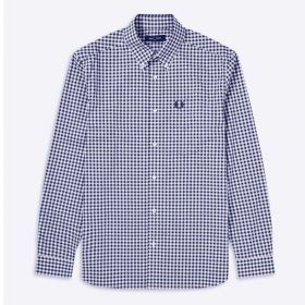 CAMICIA UOMO FRED PERRY GINGHAM M9500 BLUE 220