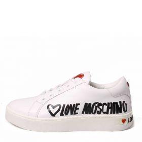 LOVE MOSCHINO SCARPE DONNA SNEAKERS HEART BIANCO JC15123 221