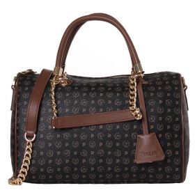 BORSA DONNA POLLINI BAULETTO NERO + VIT. MARRONE TE8411 CO