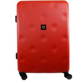 TROLLEY MEDIO RIGIDO Y NOT? ROMBO RED 4 RUOTE SPINNER 12002 120