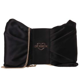 BORSA DONNA LOVE MOSCHINO POCHETTE SATIN NERO JC4062 220