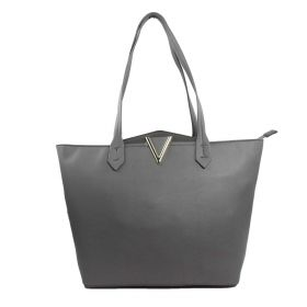 BORSA DONNA VALENTINO BAGS SHOPPING BAG L MACROPLAZA GRIGIO VBS4JL01 220