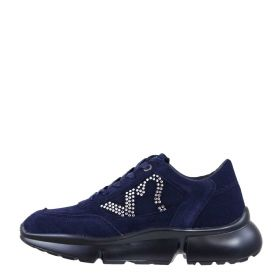 SCARPA DONNA Y NOT? SNEAKERS SCAMOSCIATA E STRASS NAVY YNI022005 220