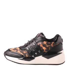 SCARPA DONNA GUESS SNEAKERS INSEL ACTIVE BORCHIE LEOPARD 120