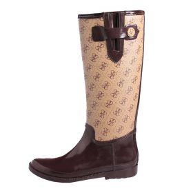 STIVALI DONNA GUESS BOOTS FAL11 MONOGRAM BEIGE BROWN 120