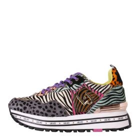 SCARPA DONNA LIU JO SNEAKERS ANIMALIER MAXI WONDER 1 MULTICOLOR BA1057P 121
