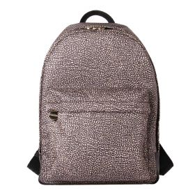 ZAINO DONNA BORBONESE BACKPACK NATURAL O.P. BLACK 934105 CO