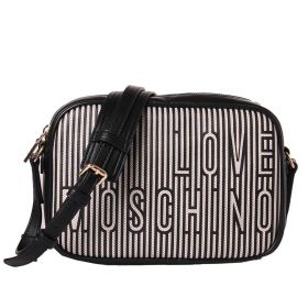 BORSA DONNA LOVE MOSCHINO CROSSBODY NATURALE/NERO JC4232PP0CK 121