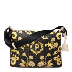 BORSA DONNA POLLINI SHOULDER BAG HERITAGE QUEEN FOR A DAY NERO / AVORIO TE8400 121