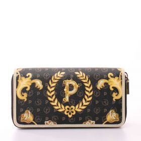 PORTAFOGLIO DONNA POLLINI WALLET QUEEN FOR A DAY NERO E AVORIO TE9012 121