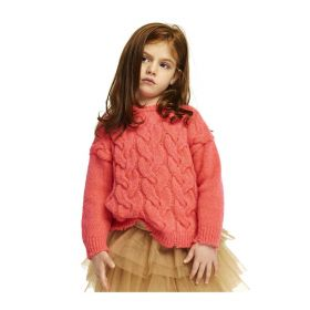 MAGLIA KID ANIYE BY GIRL PULL MELLOW CORAL 111105 221