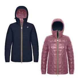 PIUMINO DONNA K-WAY MARGUERITE THERMO PLUS DOUBLE BLUE DEPHT / RED C 219