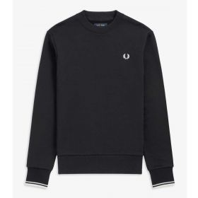 FELPA UOMO FRED PERRY GIROCOLLO CREW NECK M7535 BLACK 120