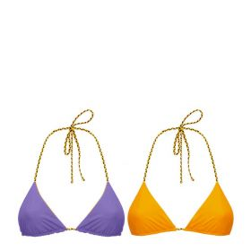 COSTUME MARE DONNA K-WAY REGGISENO SEAWEAR TIMO BATHING VIOLET / ORANGE K00BD6 120