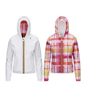GIACCA DONNA K-WAY LILY GRAPHIC WHITE M. / PINK K00BDW 121