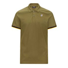 POLO UOMO K-WAY VINCENT COTONE GREEN DARK OLIVE K0089J 121