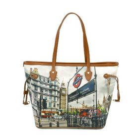 BORSA DONNA Y NOT? SHOPPING BAG LONDON WESTMINISTER TUBE YES319