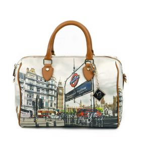 BORSA DONNA Y NOT? BOSTON BAG LONDON WESTMINISTER TUBE YES318