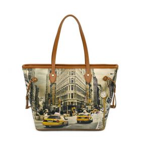 BORSA DONNA Y NOT? SHOPPING BAG NEW YORK FIFTH AVENUE YES319