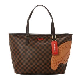 BORSA DONNA SPRAYGROUND SHOPPING BAG BROWN HENNY D3570 CO