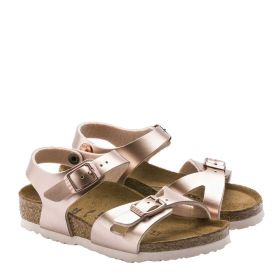 SANDALO BIMBA / KID BIRKENSTOCK RIO ELECTRIC METALLIC ROSE GOLD 1012520 120