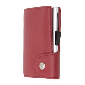 C-SECURE SINGLE WALLET CARDHOLDER CLASSIC LEATHER CILIEGIA
