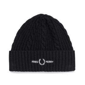 CAPPELLO UOMO FRED PERRY BRANDED BEANIE BLACK C2137 221
