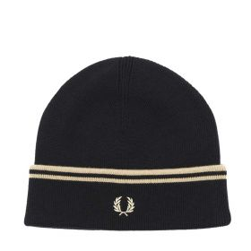 CAPPELLO UOMO FRED PERRY TIPPED BEANIE BLACK/CHAMPAGNE C9150 221